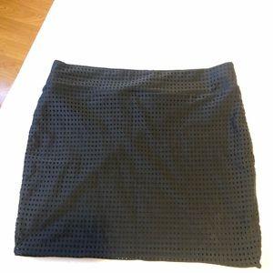 Acacia Swimwear Paia skirt in black mesh size S